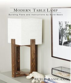 Diy Home : Modern-Table-Lamp-Project-Opener-Photo - ListFender Modern Table Lamp, Diy Furniture, Diy Table, Modern Diy, Wooden Lamp, Home Decor, Diy Lamp, Diy Table Lamp, Modern Decor