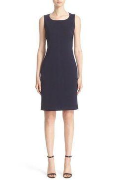 Sleeveless Milano Knit Sheath Dress