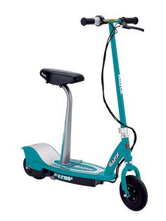 Razor Seated Electric Scooter -Teal Get around with power and style on this cool electric scooter by Razor. The Razor Seated Electric Scooter Razor Electric Scooter, Electric Scooter With Seat, Best Scooter For Kids, Kids Scooter, Scooter Parts, Birthday Gifts For Teens, Birthday List, Motor Scooters, Pro Scooters