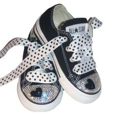 e80336d846b710 Swarovski Converse Chuck Taylors Sneakers are embellished with over 400  Swarovski crystals. Cute