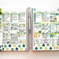 Last week in my @erincondren for Saint Patrick's Day! Kit from my shop. Other sticker shops tagged!