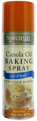 Spectrum Canola Oil Baking Spray with Flour 5 fl oz >>> Trust me, this is great! Click the image.: at Cooking Ingredients. Cooking Ingredients, Canola Oil, Cooking Oil, Spectrum, Yummy Food, Meals, Canning, Trust, Personal Care