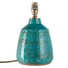 Buy John Lewis Samara Retro Lamp Base, Green Online at johnlewis.com
