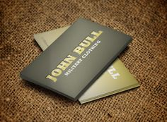 Military Clothing Business Card Design