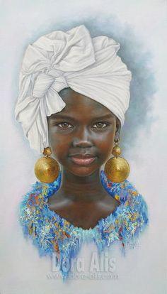 Dora Alis Mera V is part of pencil-drawings - african girl 105 African Children, African Girl, African American Art, African Violet, South African Art, African Dress, Portrait Au Crayon, Portrait Art, Black Love Art