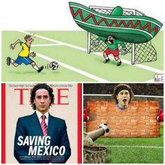 #Brasil2014: Ochoa, el héroe de la jornada. Los memes del arquero de Mexico invaden las redes sociales.
