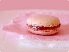 Rose Macaron - For the Recipe please click http://www.macarons.org.uk/rose-macaron-recipe.htm