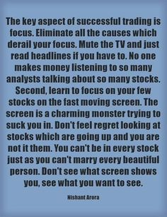 Stock Market Quotes, Marketing Quotes, Focus On Yourself, To Focus, How To Make Money, Success, Learning, Studying, Teaching