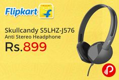 Flipkart is offering 55% off on 55% off on Skullcandy S5LHZ-J576 Anti Stereo Headphone Just at Rs.899. 1 Year Skullcandy India Warranty. Extra 5% off* on Axis Bank Buzz Credit Cards.   http://www.paisebachaoindia.com/skullcandy-s5lhz-j576-anti-stereo-headphone-just-at-rs-899-flipkart/