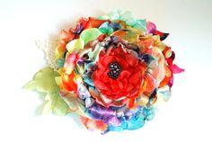 Colorful poppy flowerDesigner silky by HansHolzkopf on Etsy, $33.00