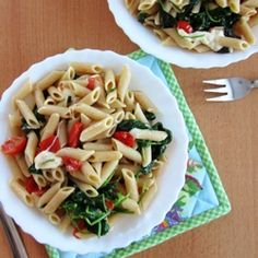 Caprese Pasta Florentine by ateaspoonofhappiness