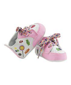 Look at this #zulilyfind! Pink & White Sugar & Spice Sneaker by Lil Tootsies #zulilyfinds