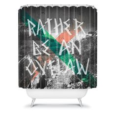 DENY Designs Wesley Bird Rather Be An Outlaw Shower Curtain - 14062-SHOCUR