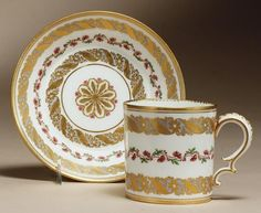 SÈVRES CABINET CUP AND SAUCER 1775