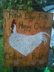 chicken sign