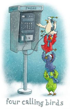 Four Calling Birds by Linda Silvestri