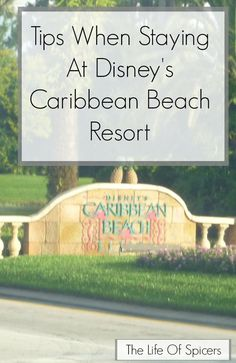 Tips When Staying At Disneys Caribbean Beach Resort