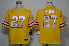 9a669c3ce Nike Buccaneers  27 LeGarrette Blount Orange Alternate Men s Embroidered NFL  Game Jersey Soccer Jerseys