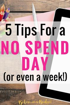 One of the easiest ways to save money each month is with a no spend day or no spend week. These are all easy things you could to save money.