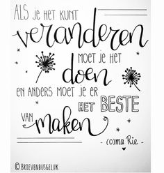 🌟Tante S!fr@ loves this📌🌟Levenswijsheid van oma Rie
