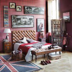 Kopfteil 140 cm ... - Chesterfield, vintage look leather.