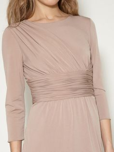Tahari ASL Fanny Ruched Jersey Dress