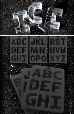Alphabet Ice Cube Tray: make fun shaped ice cubes for your summer drinks! Ice Cubes, Ice Cube Molds, Best Ice Cube Trays, Ice Tray, Lego Tray, Alphabet Soup, Ice Ice Baby, Summer Drinks, Kitchen Gadgets