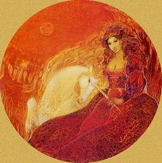 """""""Red Lady with Unicorn 1bis"""" par Susan Seddon Boulet"""