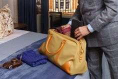 Where's your next weekend break to? Gq Style, Weekend Breaks, Modern Man, Luxury Bags, Travel Bags, Outfit Of The Day, Gentleman, Messenger Bag, Satchel