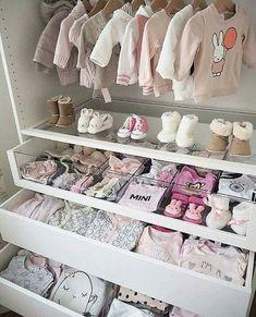 Baby girl closet ideas baby closet organization tips and nursery Baby Bedroom, Baby Room Decor, Nursery Room, Girl Nursery, Girls Bedroom, Nursery Ideas, Room Baby, Garden Nursery, Bedrooms