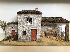 Diy Nativity, Christmas Nativity, Christmas Crafts, Noel Christmas, Village Miniature, Miniature Houses, Bird Houses, Diorama, Townhouse