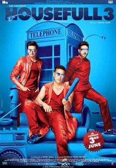Housefull 3 Movie is an Indien movie. This is asequel movie of directed by Sajid Khan. After that he also directed Housefull 2 in Latest Movies, New Movies, Movies And Tv Shows, Movies 2019, Movies Box, Blockbuster Movies, Netflix Movies, Movie Songs, Movie Tv