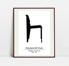 Standard SP Chair Poster - Black and White Art Print - Original Art Print by…