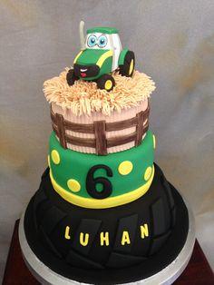 "John Deere Junior cake by ""Fantasy Cakery"""