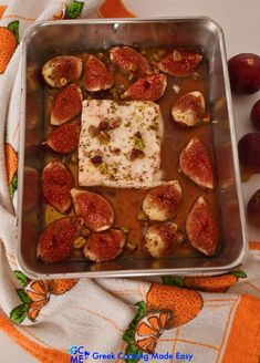 This wonderful appetizer is a guaranteed success. Prepare it in 5' for unexpected guests and have them drooling just by looking at this golden tray! Let me show you how! #φέτα_ψητή #bakedfeta #vegetarian #bakedfeta _figs #greekcooking #therecipeoftheday #syntaghthshmeras #keepcooking #greece #greek #greekrecipes #delicious #homecooking #συνταγες #greekcookingmadeeasy #greekyoutuber #greekdiet #greekblogger #foodforthought #cookingisallyouneed #likemygrandma #ελληνικηκουζινα #mediterraneanstyle Greek Diet, Greek Cooking, Fresh Figs, Savoury Dishes, Mediterranean Recipes, Greek Recipes, Food For Thought, Allrecipes, Feta