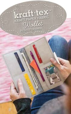 Video tutorial on how to sew a Kraft Tex wallet, link to free Kraft Tex wallet pattern included for download. I know you'll love this simple wallet pattern