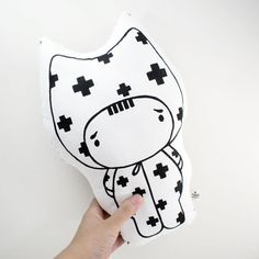 Soft Toy / Hand painted pillow / Hand painted by RiceBabyShop