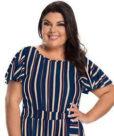 Fabiana Karla by Hiroshima - Vestido em jersey acetinado Hiroshima, Moda Plus Size, Tops, Women, Fashion, Stylish Dresses, Patterned Dress, Clothing Templates, Low Cut Dresses