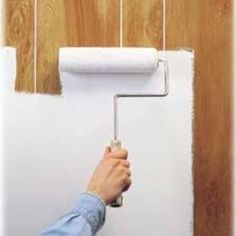 Change the look of your room dramatically by painting the wall panels.