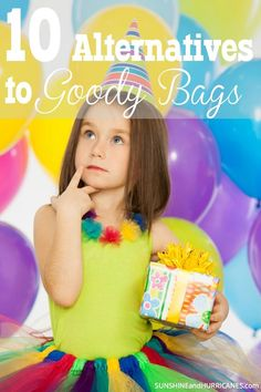 Tired of spending money on cheap toys and candy for Birthday Party Goody Bags? Want to give something that kids (and their parents) will actually appreciate? We've got 10 alternatives to goody bags that are affordable and are things that you will actually enjoy giving. 10 Alternatives to Goody Bags. SunshineandHurricanes.com