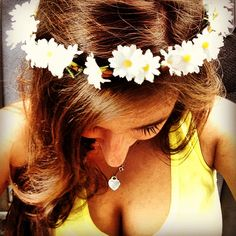 Homemade flower crown