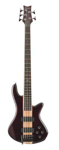 Schecter Stiletto Elite-5 Bass Guitar (5 String, See-Thru Cherry) $599.00
