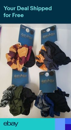 New Harry Potter Pack Of 3 Womens Girls Scrunchy Bobbles Hair Ties Primark Harry Potter Robes, Harry Potter Pin, Harry Potter Outfits, Harry Potter World, Harry Potter Accessories, Diy Hair Accessories, Scrunchies, Harry Potter Hairstyles, Hermione