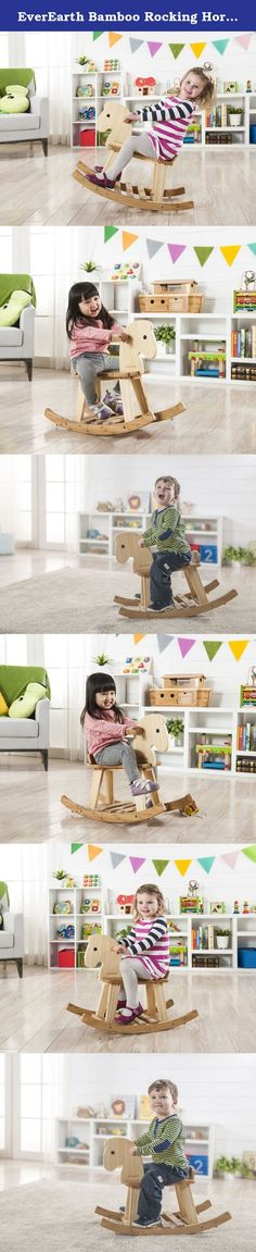 EverEarth Bamboo Rocking Horse EE33559. Traditional rocking horse and helps with balance and muscle development. Made from high quality Beech and fully tested to European standards, this product is suitable for children age 12 Months +. It is also 100% FSC certified Beech and tested to EN71 standards so it is safe and durable for your child to play with. EDUCATIONAL FEATURES: THINKING SKILLS - Figuring out how things work is one of the best parts of play. Simple challenges to more...