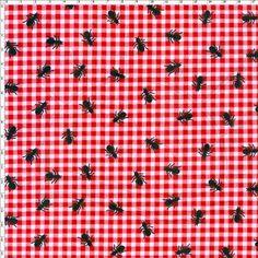 Tecido Estampado para Patchwork - Picnic Formiga (0,50x1,40) no Bazar Horizonte
