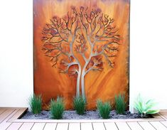 acier panneau mural jardin moderne
