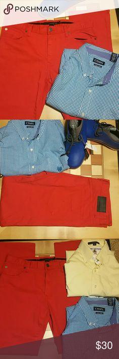 Calvin Klein Men's Core Slim-Fit size 32/32 Rare RED Calvin Klein Men's Core Slim-Fit Refined jeans  98% cotton 2% elastane.  nwot. Calvin Klein Jeans Jeans Slim Straight