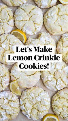 Fun Baking Recipes, Lemon Recipes, Sweet Recipes, Snack Recipes, Dessert Recipes, Wedding Cookie Recipes, Recipes For Sweets, Yummy Cookie Recipes, Unique Cookie Recipes