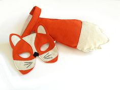 Fox Mask and Tail for Children Kids Carnival door BHBKidstyle