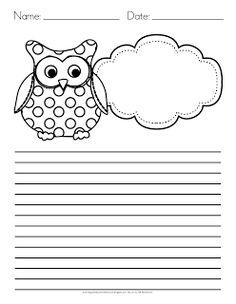 Owl Writing Paper Freebie